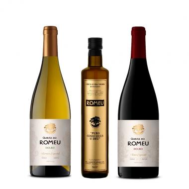 Conjunto Azeite e Vinho Quinta do Romeu